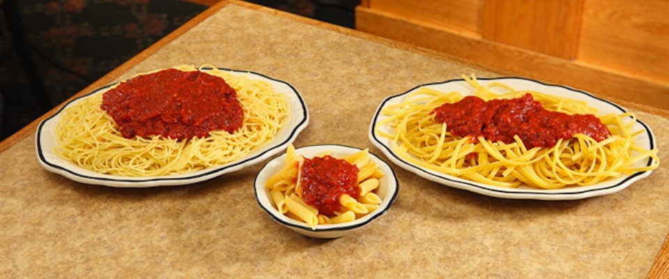 Marino's pasta with marinara sauce